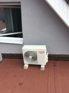 Venkovní jednotka na střeše